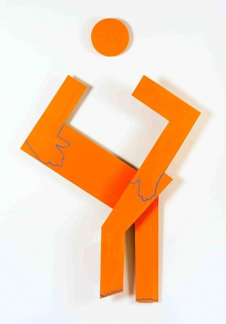 Susan Weil, Sitting Squarely, 2009, acrylic on masonite, 55 x 33.5 x 3.75 inches