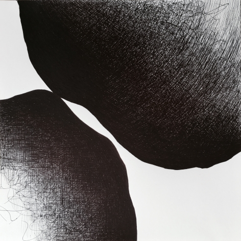Golnaz Fathi, Untitled, 2016, ballpoint pen on paper, 11.8 x 11.8 inches / 30 x 30 cm