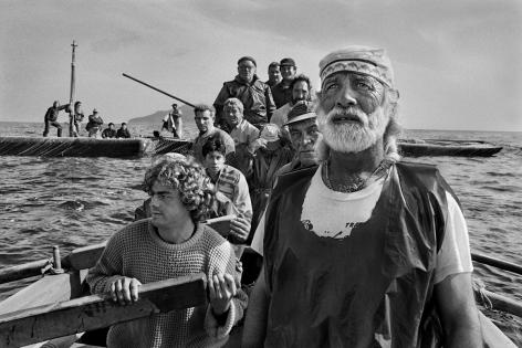 Traditional tuna fishing ritual La Mattanza, Trapani, Sicily, Italy, 1991, gelatin silver print, 36 x 50 inches/91.4 x 127 cm© Sebastião Salgado/Amazonas Images