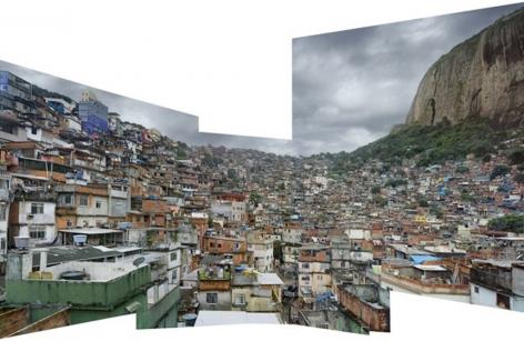 Favela Rocinha #1, Rio de Janeiro, Brazil, 2009,UV-cured ink on aluminum, 112.2 x 177 inches/285.1 x 449.6 cm