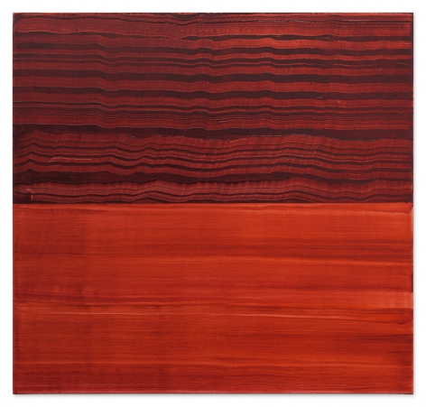 Ricardo Mazal, Violet Red and Red 1, 2017, oil on linen, 40 x 42 inches/102 x 107 cm