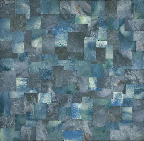 Chessman Max, 2006, pure pigment on galvanized steel, 60 x 60 inches
