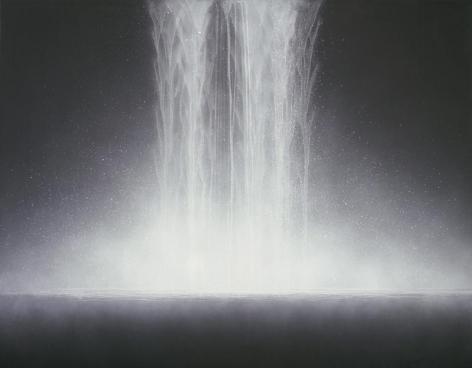 Hiroshi Senju, Waterfall, 2009, Natural pigments on Japanese mulberry paper, 90.9x116.7cm