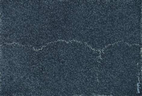 Zhang Yu, Fingerprints-2005.6-2, 2005, Xuan paper, ink and wash, 47.2 x 37.8 inches