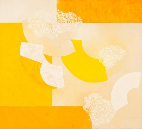 , Into Stillness, 2014, acrylic and pencil on canvas, 46.5 x 51.5 inches/118 x 131 cm