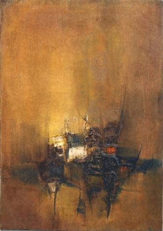 "Sohan Qadri, Chachoki, circa 1968, Oil on canvas, 34 x 24"""