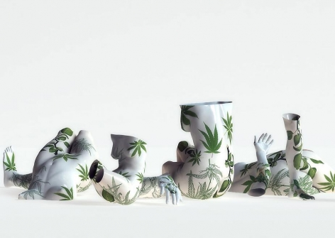 Kim Joon, Fragile-Holy Plants, 2010, digital print, 47 x 66 inches