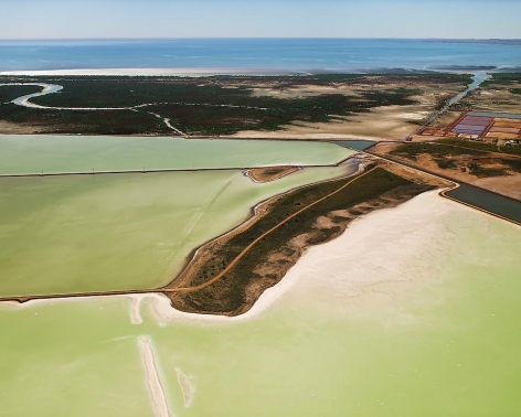 Edward Burtynsky, Dampier Salt Ponds # 1, Dampier, Western Australia, 2007, Chromogenic color print, 48 x 60 inches
