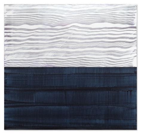 Ricardo Mazal, White and Violet Blue 3, 2017, oil on linen, 40 x 42 inches 102 x 107 cm