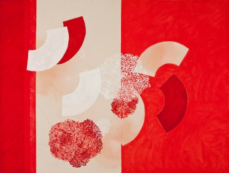 , Independence, 2014, acrylic and pencil on canvas, 66 x 88 inches/168 x 224 cm