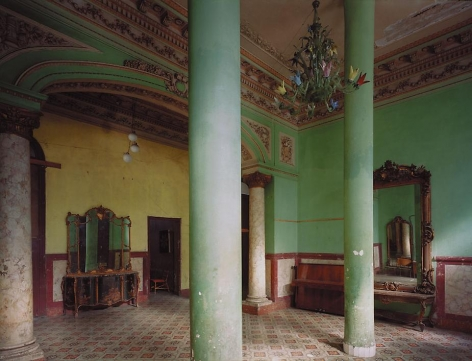 Villa Isabel, formerly the house of the Paragga family, Calzada de Diez de Octubre, Vibora, Cuba, 1997, archival inkjet print, 40 x 50 inches