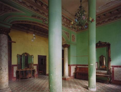 Villa Isabel, formerly the house of the Paragga family, Calzada de Diez de Octubre, Vibora, Cuba, 1997, archival inkjet print, 40 x 50 inches