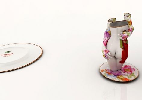 Kim Joon, Fragile-Chunhyang on the Limoges,2010 Digital print 39.4 x 55.1 inches/100 x 140 cm