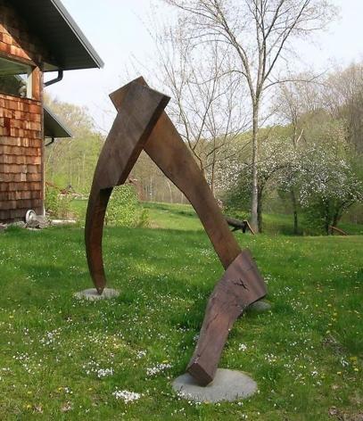 """Gallarus, 1986, oak, 6'4""""h x 5'1""""w x 8'l"""