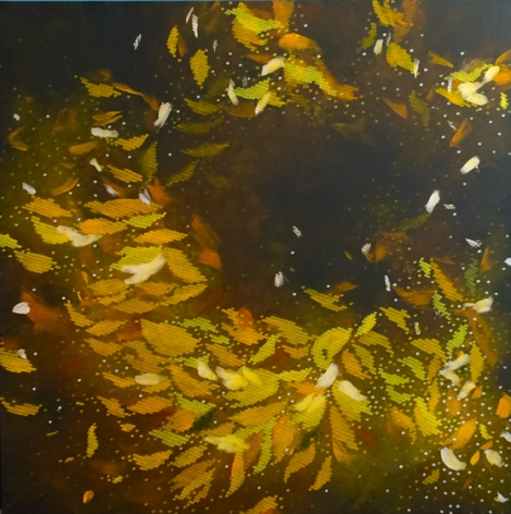 December Leaves, 2014, acrylic on canvas, 60 x 60 inches/152.4x 152.4cm