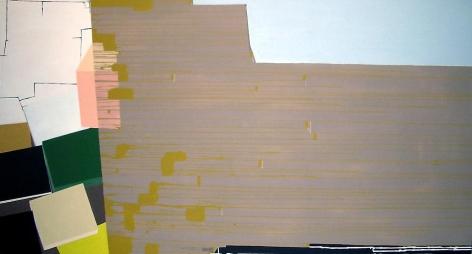 "Frances Barth Skelter2006Acrylic on canvas52 x 96"""