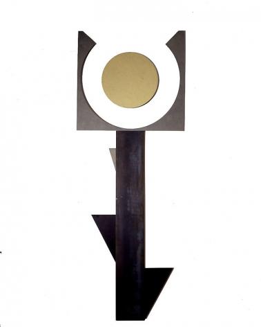 """Merrill Wagner,  Desert Flower , 2006, Rust preventativej paint on steel, 140 x 52"""""""