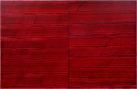 4 Los Angeles - Violet Red, 2016,oil on linen,83 x 128 inches/210.8 x 325.1 cm