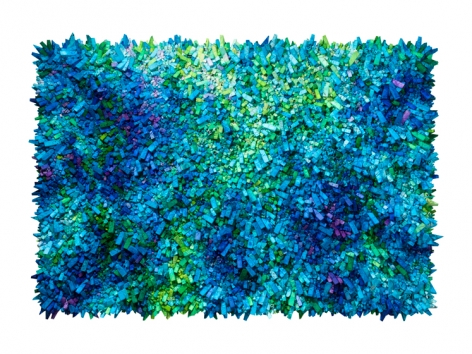 Chun Kwang Young, Aggregation 18 - AP027, 2018, mixed media with Korean mulberry paper, 57.9 x 81.9 inches/147 x 208 cm