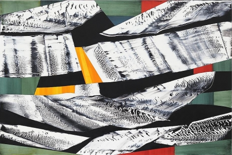 , Ricardo Mazal, Black Mountain MK6, oil on linen, 63 inches x 94.5 inches