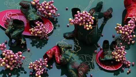 Drunken-Mouton Rothschild, 2011, digital print, 47 x 82.7 inches