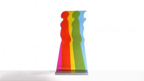 Walking Figure, 1967, Plexiglas and aluminum, 44 x 25 inches/118.8 x 63.5 cm