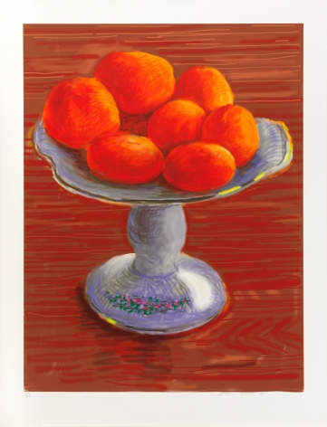 Tangerines, 2010, iPad drawing printed on paper