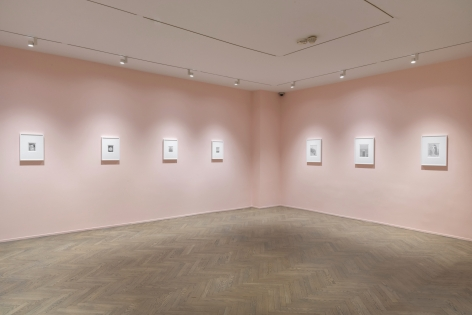 Installation view of Ewan Gibbs: New York / Chicago, 2019, Richard Gray Gallery, New York.