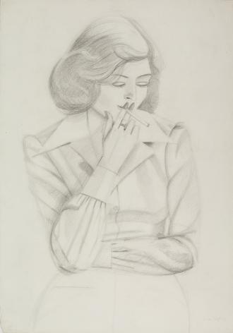 alex katz phyllis 1975 pencil on paper richard gray
