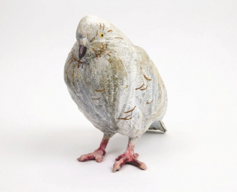 Pigeon, 2006 Patinated bronze, enamel