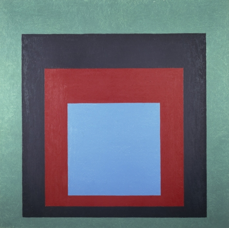 "Josef Albers Homage to the Square: ""Frontward"" Oil on masonite"