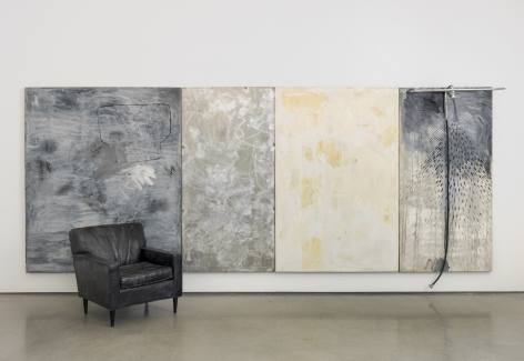 Four Rooms, 1962, Oil on canvas with metal, rubber and upholstered chair