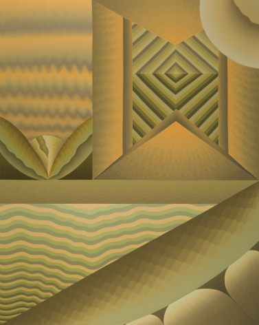 Sections of Change (1st Mode), 1978, Oil on linen