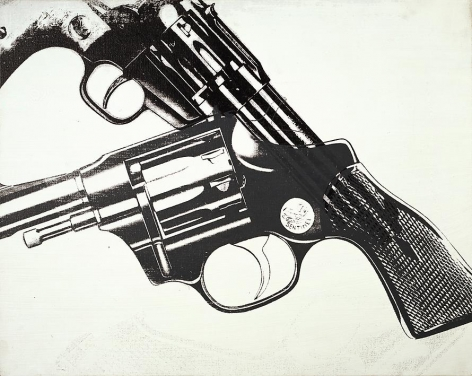 Gun, 1981-82 Synthetic polymer paint and silkscreen ink on canvas