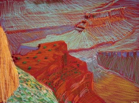 Study for a Closer Grand Canyon VI, from Pima Point, 1998