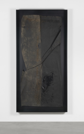 Theaster Gates, Black Painting Study: Roofing Binary, No Content, 2018