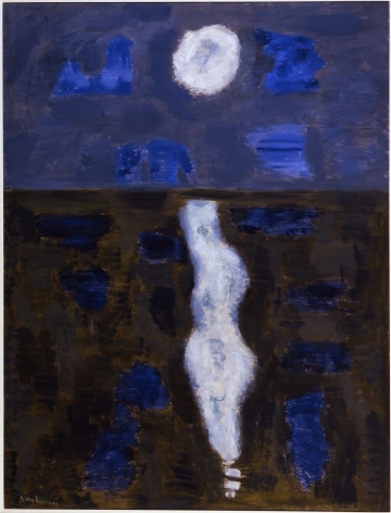 Milton Avery White Moon Oil on canvas