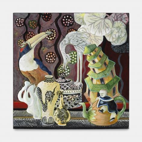 Cloisonné, 2010, Acrylic on canvas