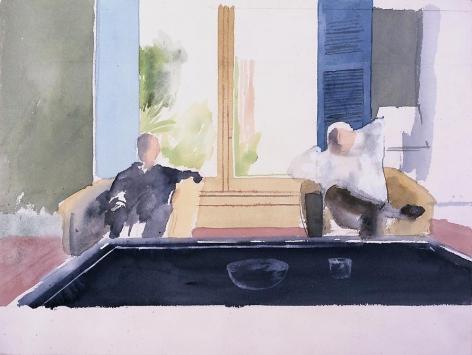 Study for Christopher Isherwood & Don Bachardy I, 1968