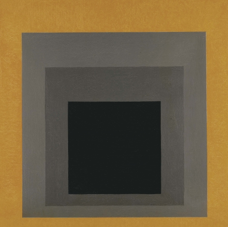 Josef Albers Study for Homage to the Square: Grisaille & Gold Oil on masonite
