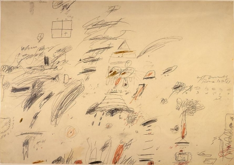 Roma, 1959-61 Pencil, crayon and ink on paper