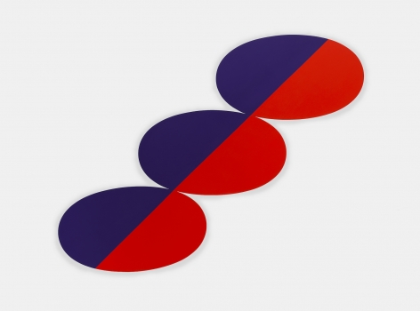 Constel: Blue Red straight line thru Ovals, 1969
