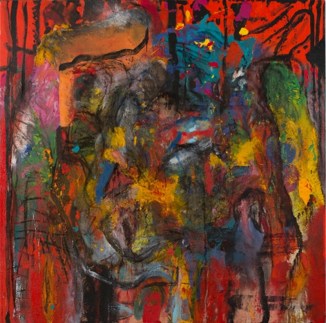 Jim Dine Coming From the Darkness, I Hear Your Laugh! Oil, acrylic, charcoal and sand on linen