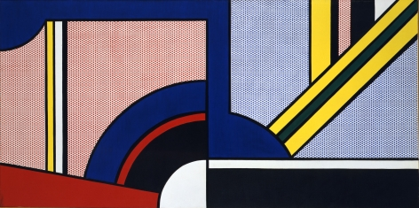Roy Lichtenstein Modern Painting With Division Oil and magna on canvas