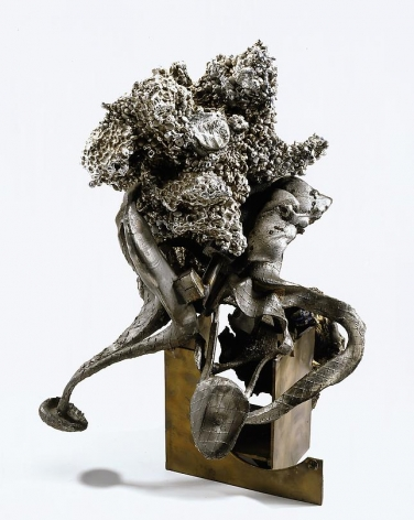 Zimming, 1992 Cast stainless steel, bronze and aluminum