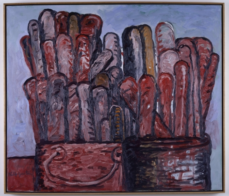 Philip Guston Paintbrushes Oil on canvas