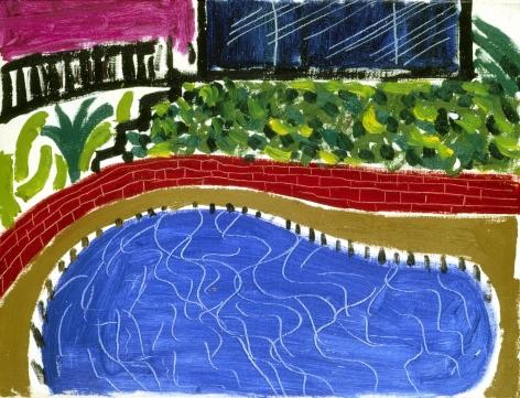 Montcalm Pool, Los Angeles, 1980, Oil on canvas