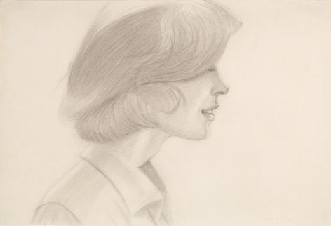 alex katz jeannie 1974 pencil on paper richard gray