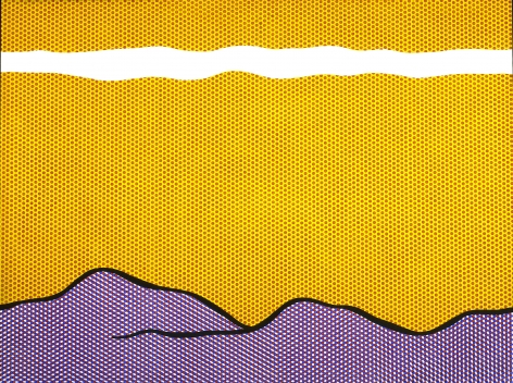 Roy Lichtenstein Purple Range Oil and magna on canvas