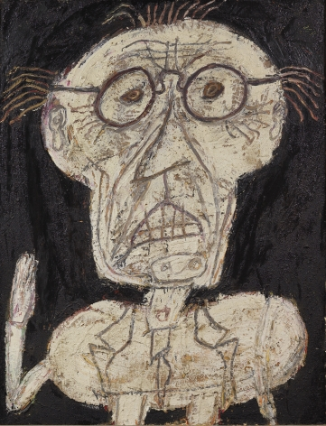 Jean Dubuffet Monsieur d'hotel Oil and sand on canvas